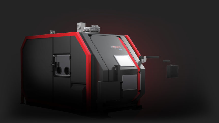 Prodways Promaker RAF 50. Titanium 3D Printing . Rapid Additive forging